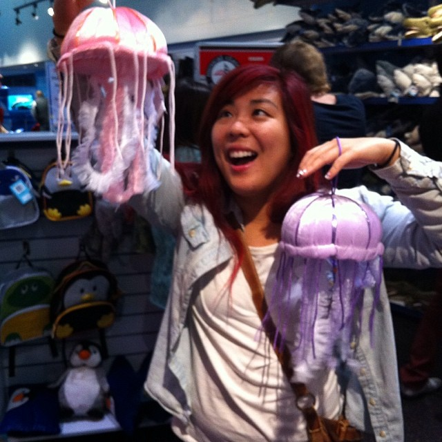 Stopping by (and goofing off at) the gift shop is a great way to end the day!