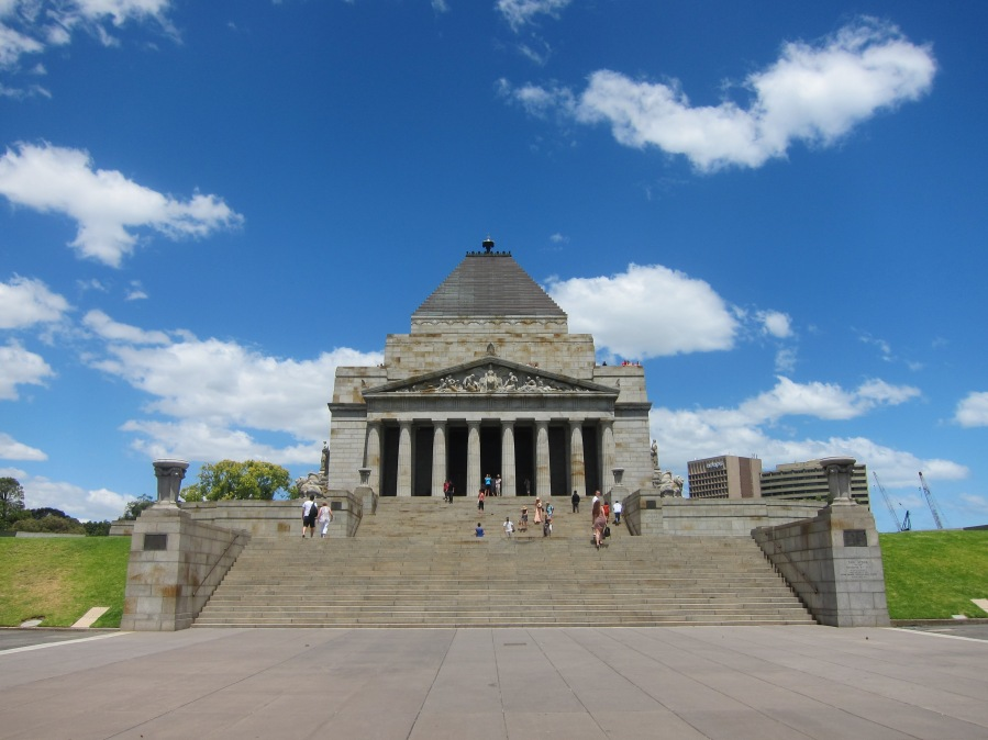 The Shrine of Remembrance.