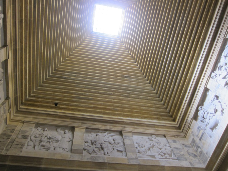 The roof of the shrine.